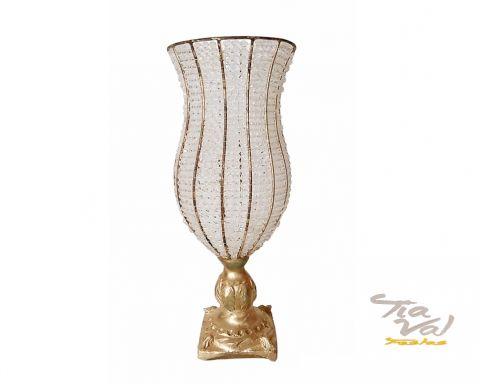 Aluguel de cristal dourado vaso grande tia val festas - Vasos grandes cristal ...